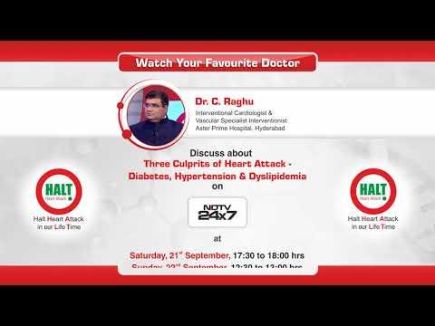 Three Culprits of Heart Attack By Dr C Raghu